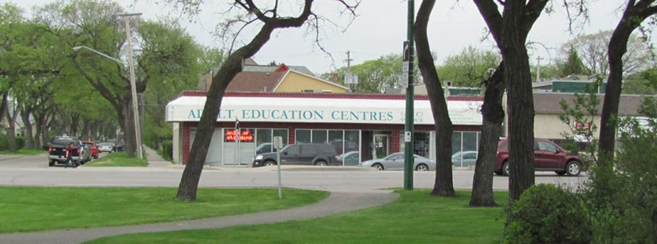 Adult Education Centres, as seen from St. John's Park.