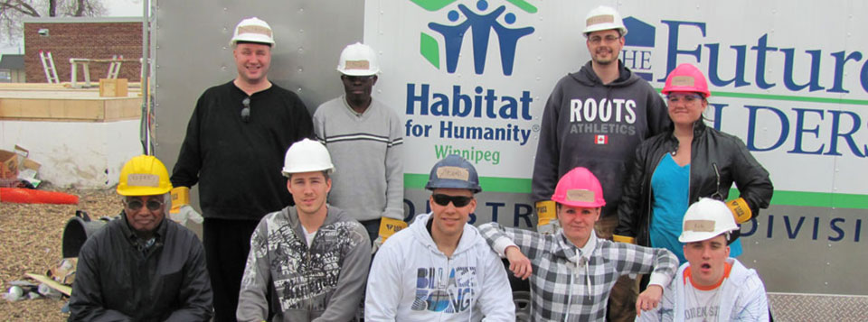 AEC students can volunteer each spring at Habitat for Humanity.